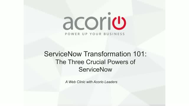 ServiceNow 101: The 3 Crucial Powers of ServiceNow