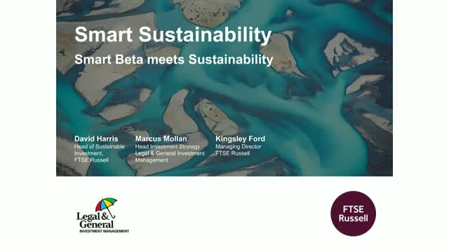 Smart Sustainability - Smart Beta meets Sustainability