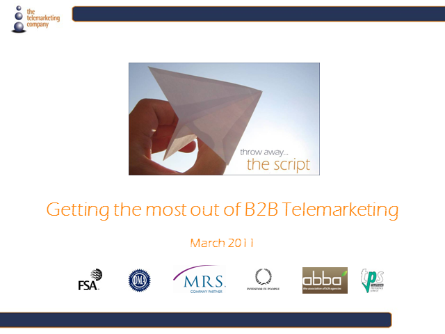 Making connections: Getting the most out of B2B telemarketing