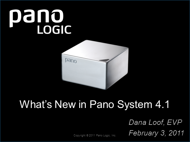 Pano Logic Launches Pano System 4.1