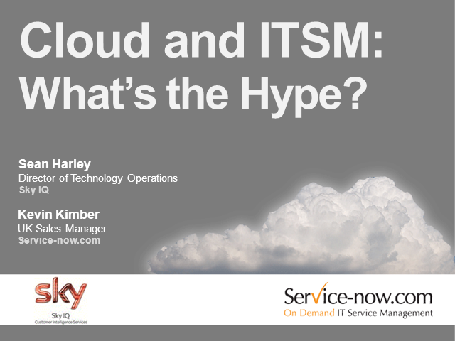 Cloud and ITSM: What's the Hype?
