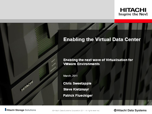 Enabling the Virtual Data Center