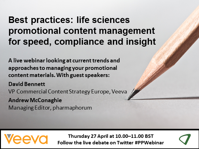 Life sciences promotional content management for speed, compliance and insight