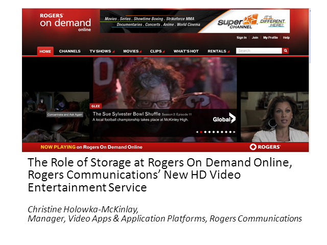 How Storage Helps Rogers Deliver HD Video On-Demand Service