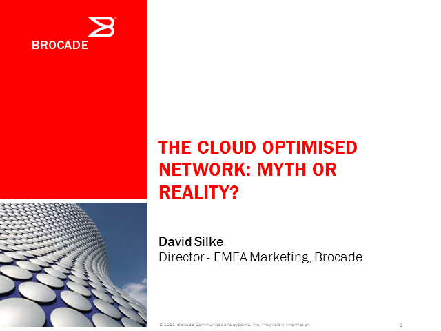 The Cloud-Optimised Network: Myth or Reality?