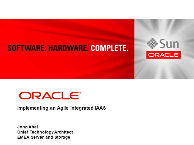 Implementing an Agile Integrated IAAS