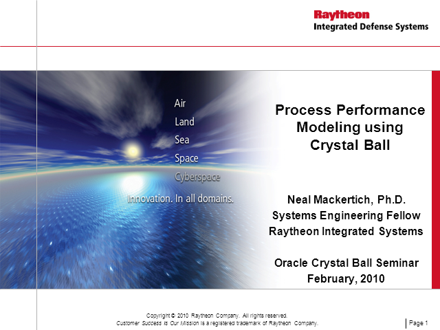 Process Performance Modeling using Crystal Ball