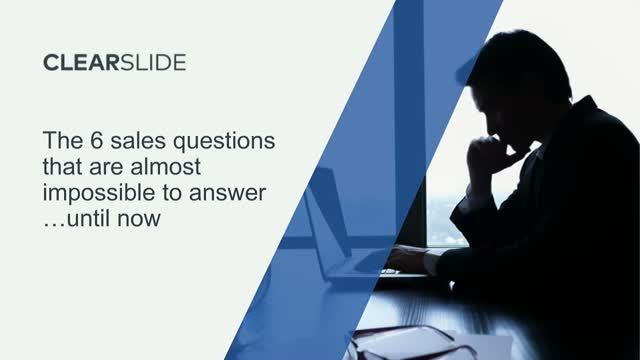 The 6 Sales Questions That Are Almost Impossible to Answer...Until Now