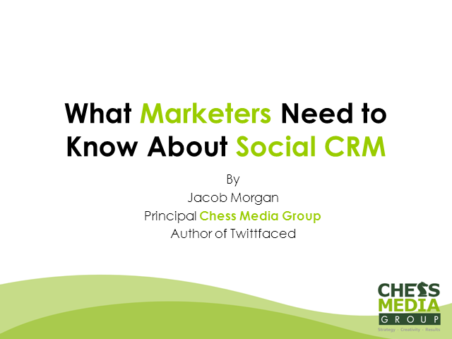 What Marketers Need to Know About Social CRM