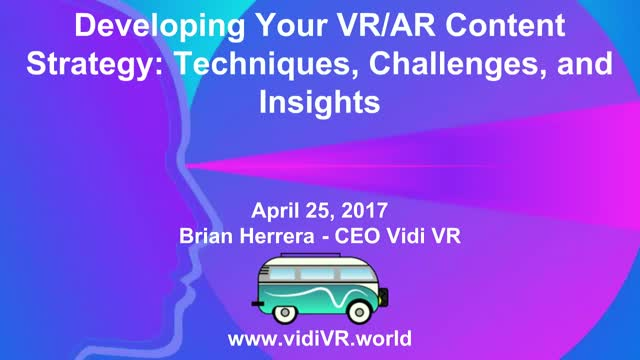 Developing your VR/AR Content Strategy: Techniques, Challenges, and Insights