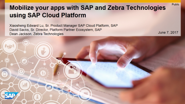 Mobilize your apps with SAP and Zebra Technologies using SAP Cloud Platform