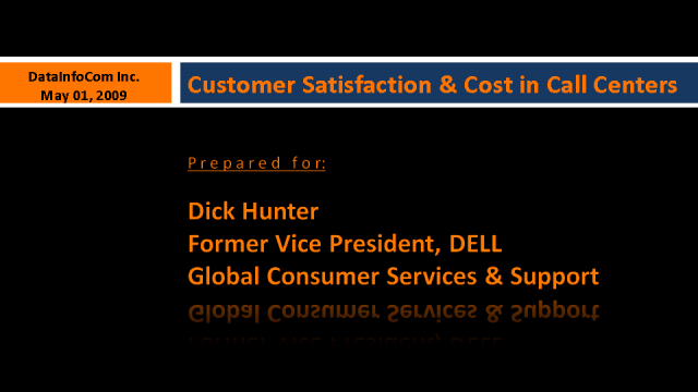 Contact Centers - Increase Customer Satisfaction & Reduce Costs