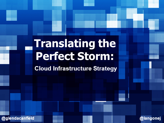 Translating the Perfect Storm: Cloud Infrastructure Strategy