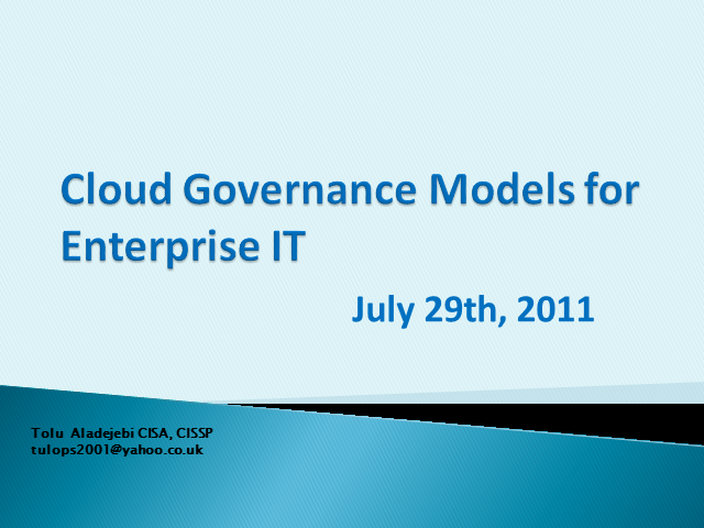 Cloud Governance for Enterprise IT