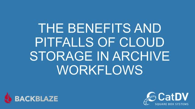 The Benefits and Pitfalls of Cloud Storage in Archive Workflows