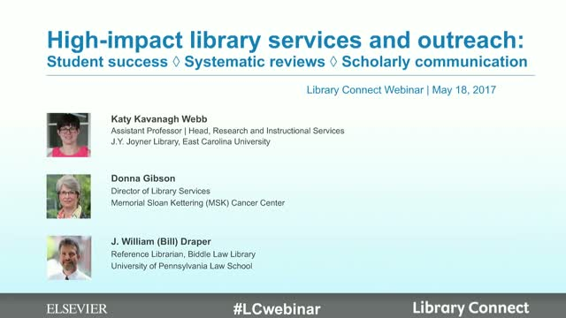 High-impact library services & outreach: student success to systematic reviews