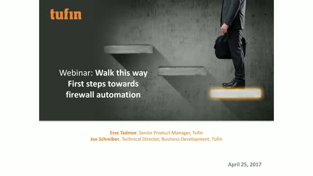 Walk this way - First steps towards firewall automation