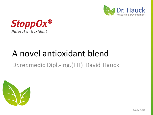 StoppOx, a novel and natural antioxidant blend for product protection