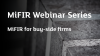 MiFIR Webinar Series - MiFIR for Buy-Side