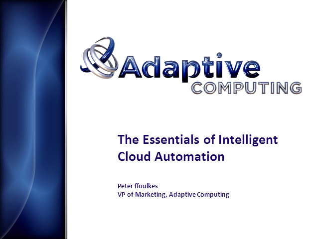 The Essentials of Intelligent Cloud Automation