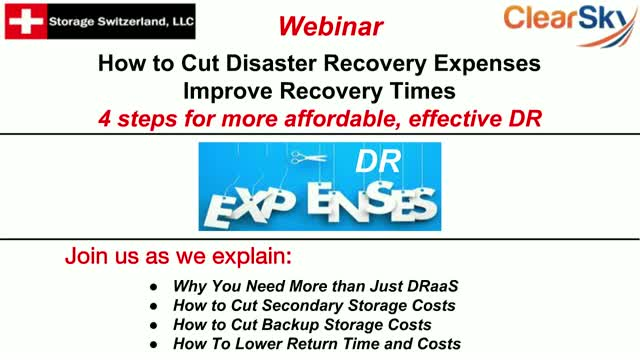 How to Cut Disaster Recovery Expenses - Improve Recovery Times
