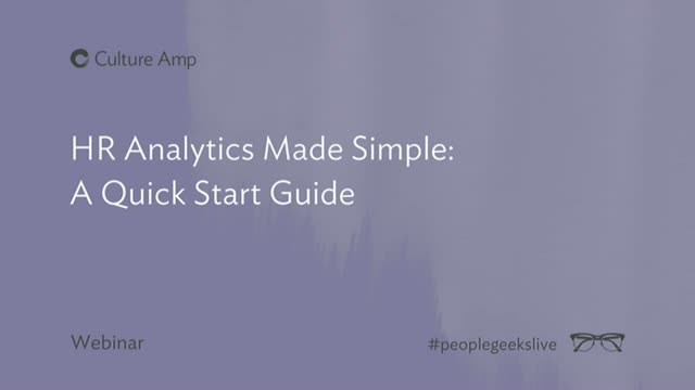 HR Analytics Made Simple: A Quick Start Guide