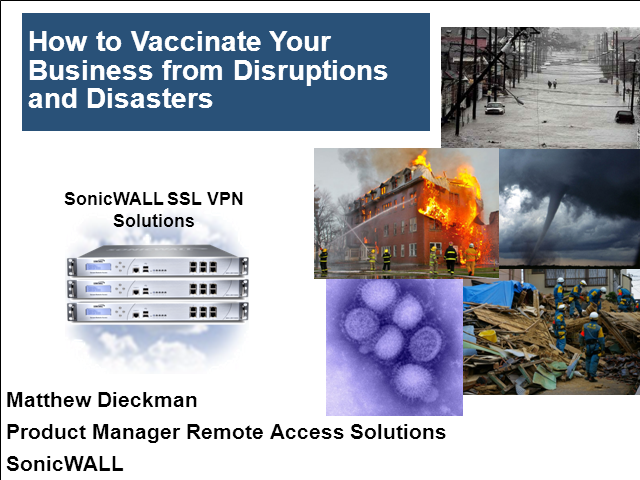 Ensuring Business Continuity in the Face of Disaster / Disruption