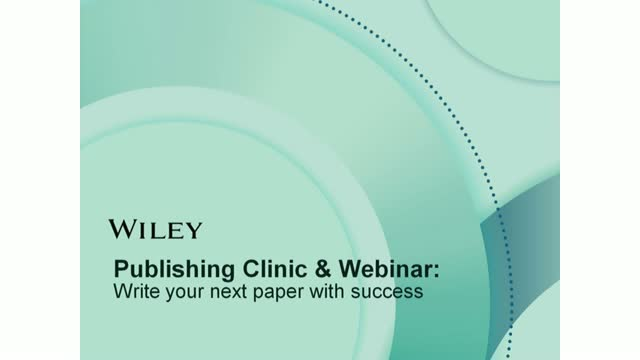 Publishing Clinic: Write your next paper with success