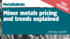 Minor Metals Pricing and Trends Explained