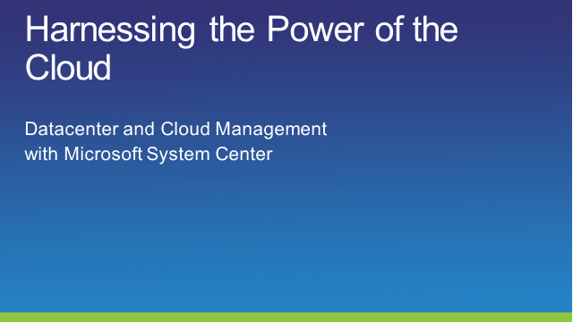 Harnessing the Power of the Cloud