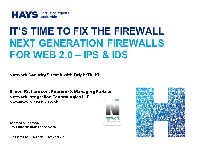 It's Time to Fix the Firewall