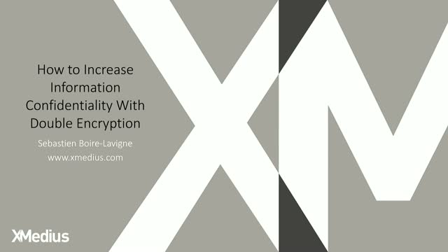 How to Increase Information Confidentiality with Double Encryption