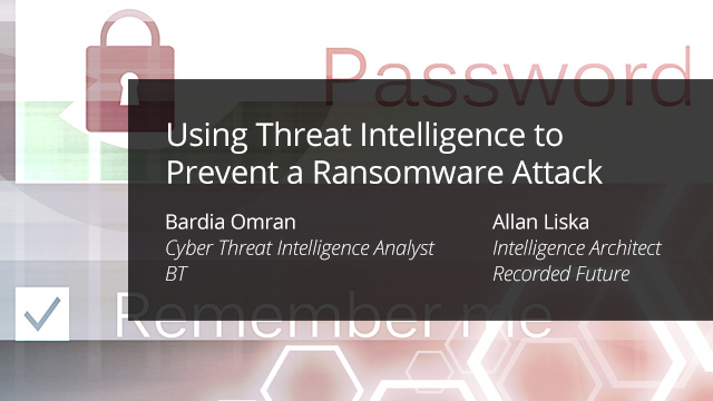 Using Threat Intelligence to Prevent a Ransomware Attack