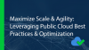 Maximize Scale & Agility: Leveraging Public Cloud Best Practices & Optimization