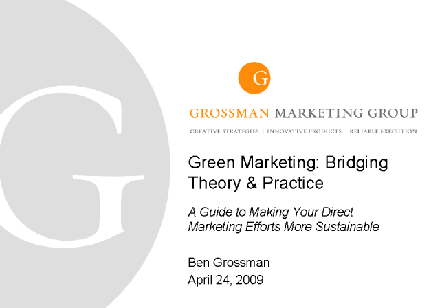 A Guide to Making Your Direct Marketing Efforts More Sustainable