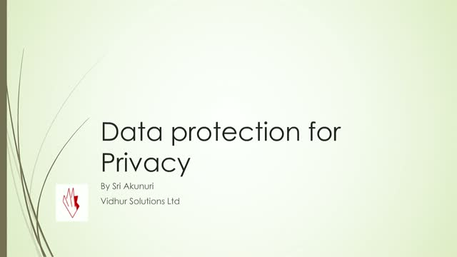 Data Protection, Privacy & Preparing for GDPR