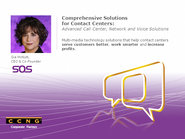 Comprehensive Solutions for Contact Centers by CCNG partner SOS