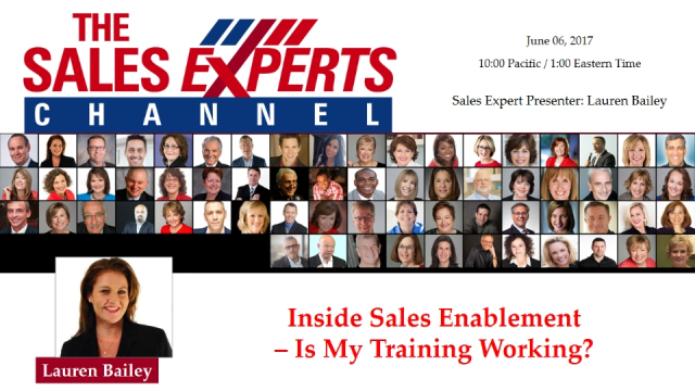 Inside Sales Enablement – Is My Training Working?