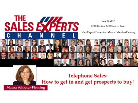 Telephone Sales:  How to get in and get prospects to buy!