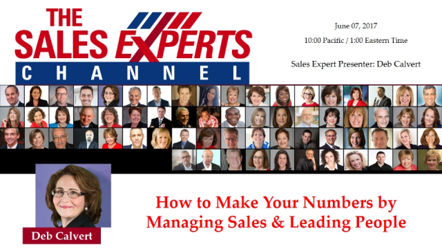 How to Make Your Numbers by Managing Sales & Leading People