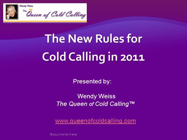 The New Rules of Cold Calling in 2011
