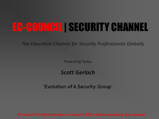 Evolution Of A  Security Group