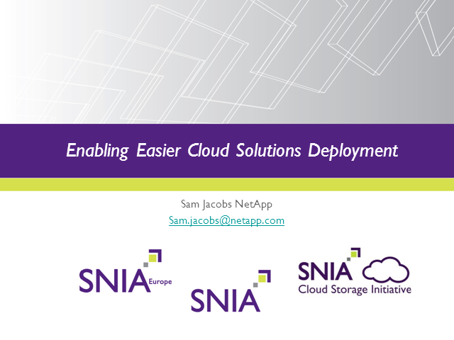 Enabling Easier Cloud Solutions Deployment