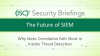 Part 1: Future of SIEM–Why Static Correlation Fails Insider Threat Detection