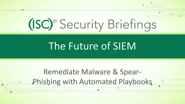 Part 3: Future of SIEM—Remediate Malware & Spear Phishing w/Automated Playbooks