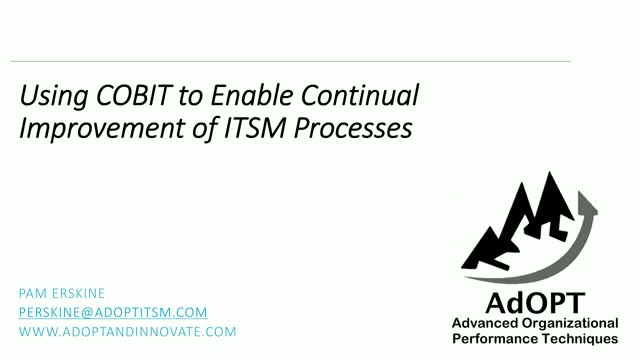 Using COBIT to Enable Continual Improvement of ITSM Processes