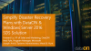 Simplify Disaster Recovery Plans with DataON & Windows Server 2016 SDS Solution