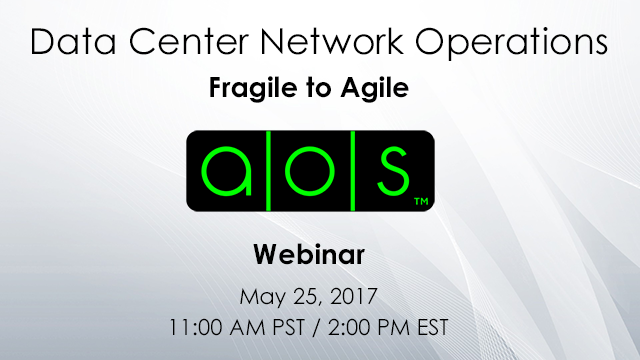 Data Center Network Operations: Fragile to Agile
