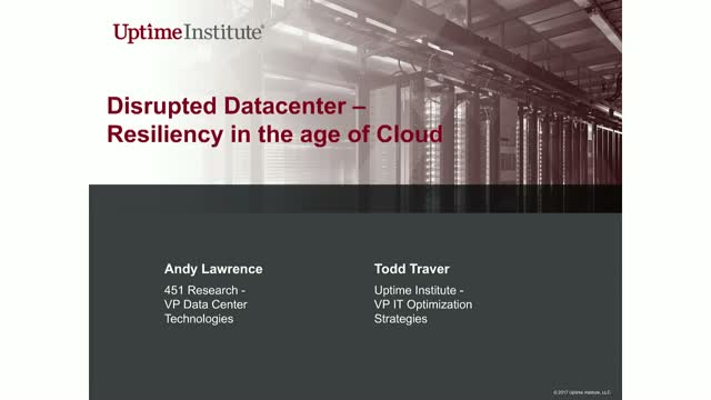 Disrupted Data Center:cloud-based resiliency spread workload across data centers