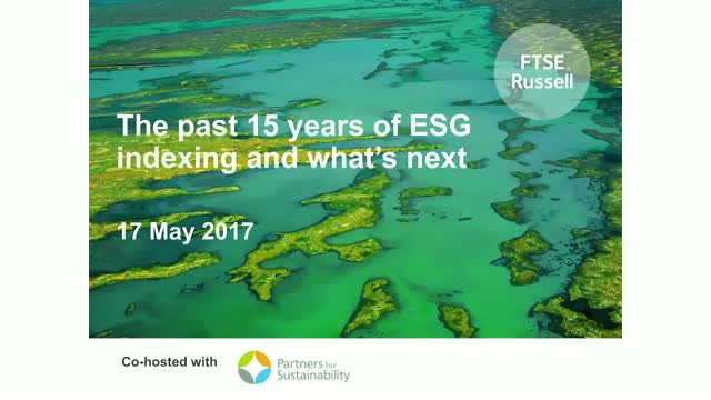 The past 15 years of ESG indexing and what's next